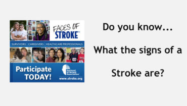 Learn what the signs of a stroke are