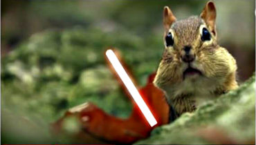 Two Chipmunks Take to the battle field with lasers
