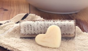 One way to make a new bar of soap out of your old soap
