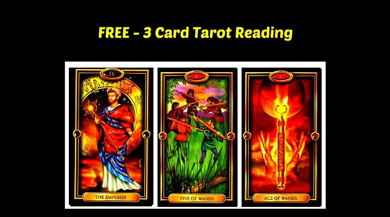 FREE - Three card tarot reading