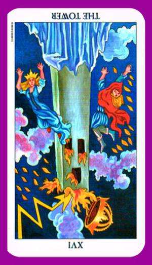 The Tower tarot card meaning reversed