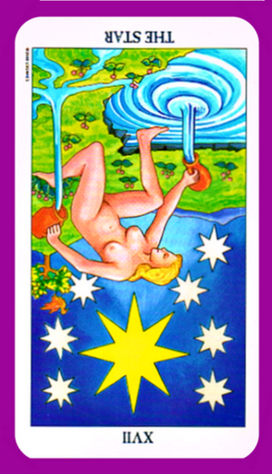The Star tarot card meaning reversed