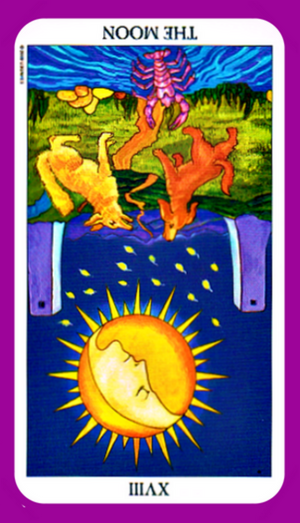 The Moon tarot card meaning reversed