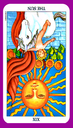 The Sun tarot card meaning reversed