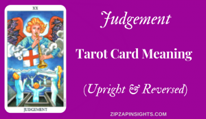 Discover the meaning of The Judgement tarot card