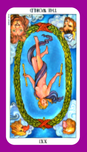 Discover the meaning of The World tarot card reversed